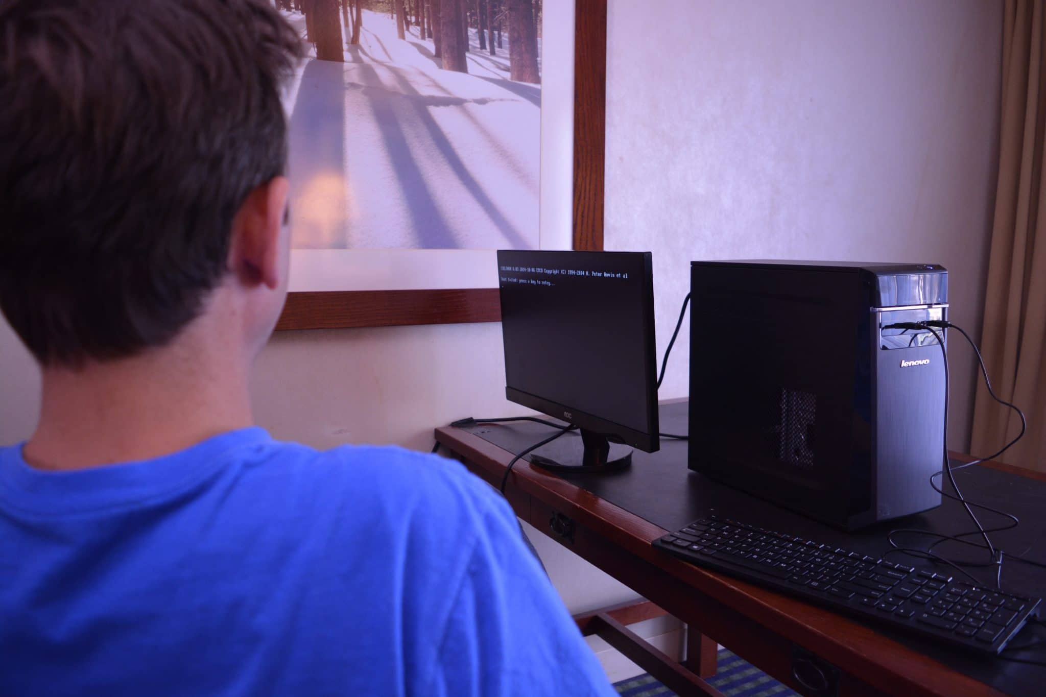 an air-gapped Compute Node being set up