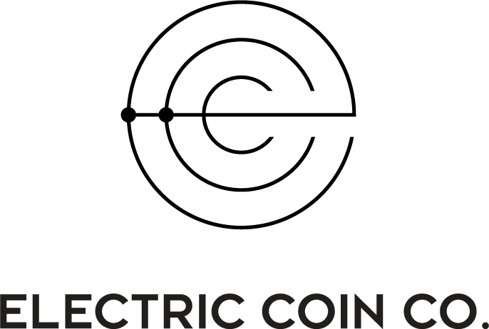 Black vertical Electric Coin Co. logo