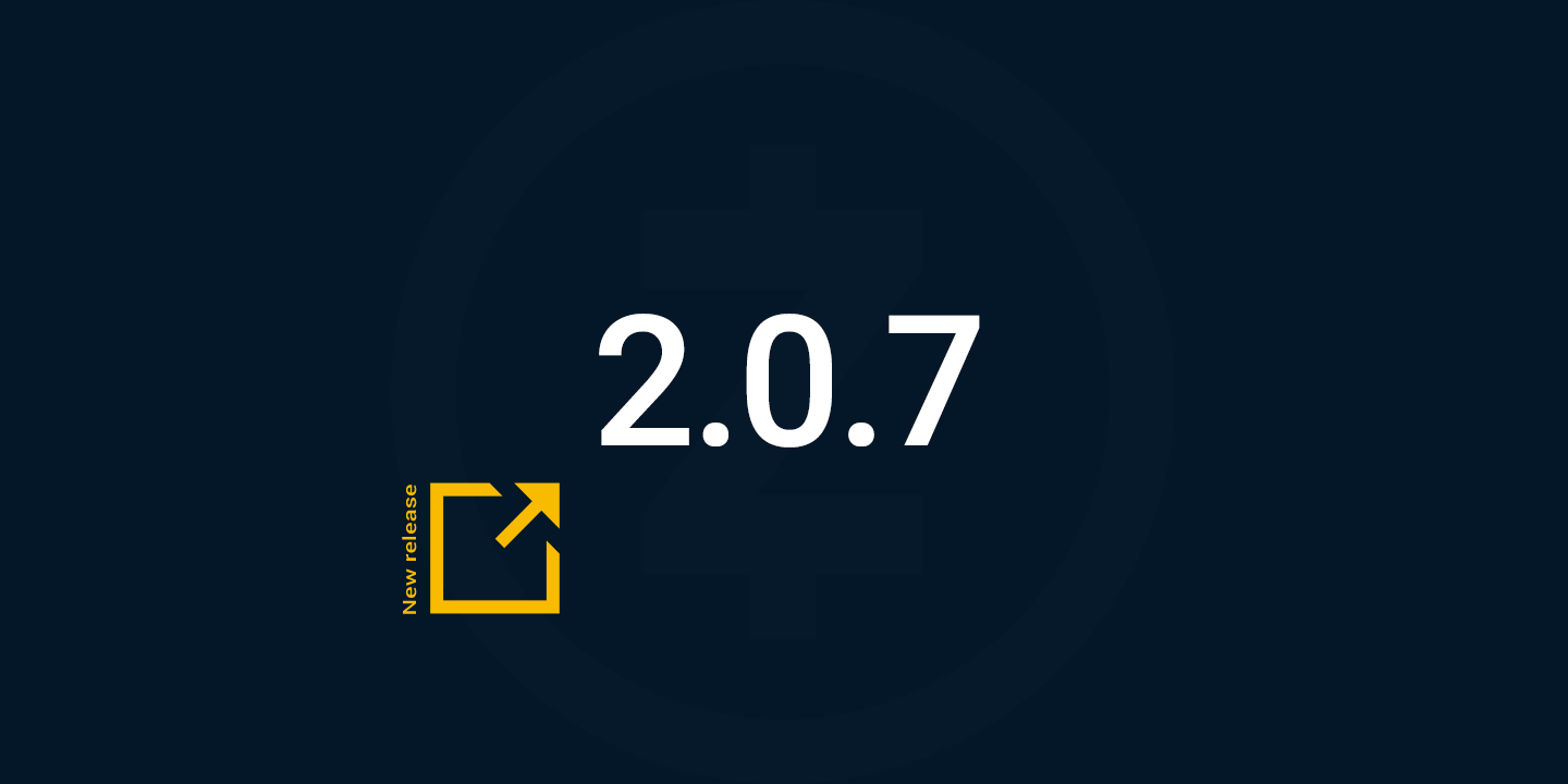 New Release: 2.0.7